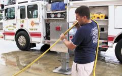 Nicholls student follows childhood dream of firefighting