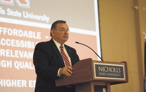 University introduces presentation amid budget speculation