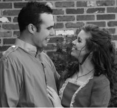 Clint Costanza and Kate LeBlanc participate in Old South in April 2007, a tradition of