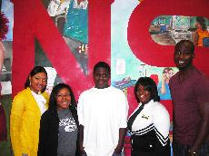 Members of the NAACP pose with a student from East Thibodaux Middle School who was mentored by the organizations members.