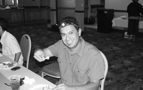A recent picture of Ben Cortez enjoying food at a nicholls event. Cortez died on Monday night.
