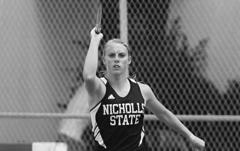 Springer places second overall in javelin throw