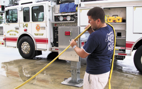 Ryan Delatte, safety management junior of Thibodaux, is living his life-long dream as a volunteer fireman.