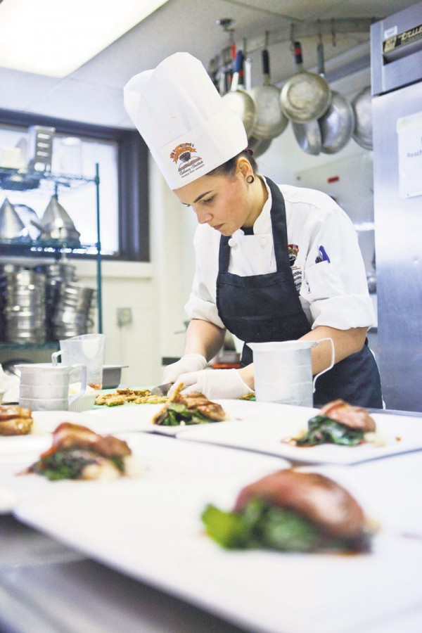 Nicholls culinary graduate Haleigh Hocut compete in the 2015 San Pellegrino Almost Famous Chef Regional Competition in Chiago last week.