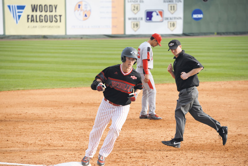 Marc Frazier rounds third base after hitting a home run against Utah.