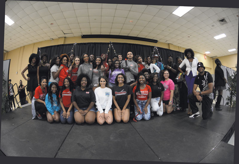 Members of NAACP gather for a group photo after their Fashion Show in October.