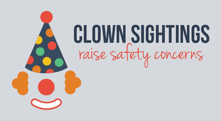 Clown sightings raise safety concerns