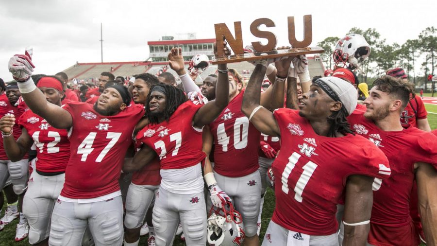 Nicholls football overcomes rival opponent and bad weather