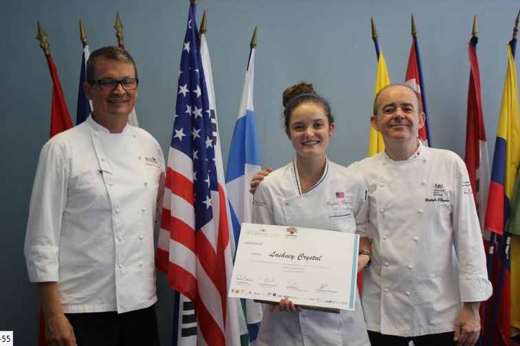 Crystal Lachney, a senior at the Chef John Folse Culinary Insitiute in Thibodaux, was named the top student of this years Institut Paul Bocuse Summer Alliance Program in France. (Submitted)