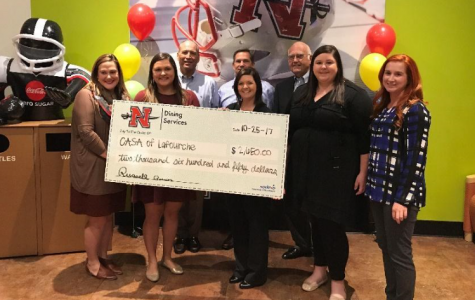 Nicholls Dining donates $2,650 to CASA of Lafourche
