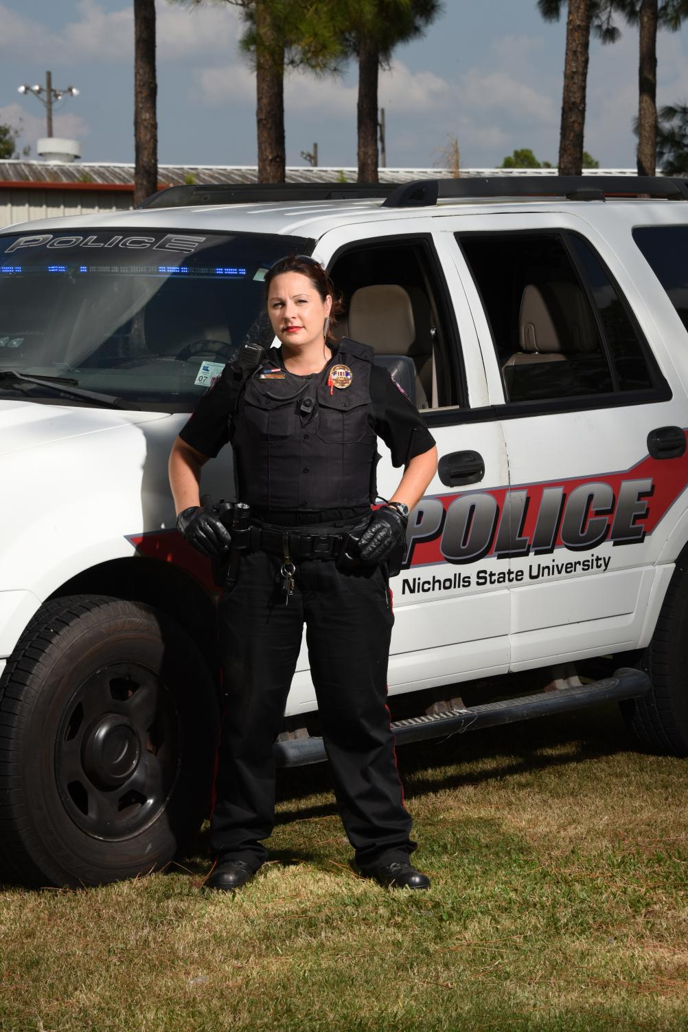 Pictured is Officer Melisa Quintal of Nicholls State University Police Department.
