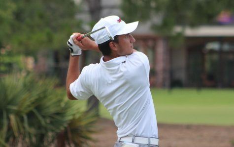 Nicholls men's golf tees of on spring season after long break