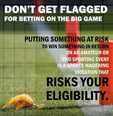 Student-athletes were reminded of NCAA sports wagering violations