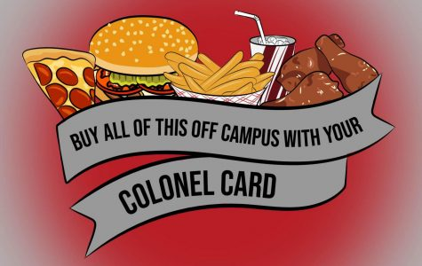 Off-campus locations you can use your Colonel Card