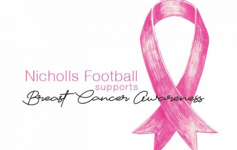 Nicholls football supports breast cancer awareness month