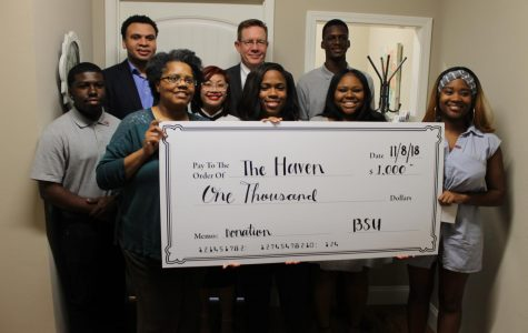 New Nicholls student organization donates $1,000 to local women's shelter