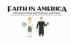 Panel of professors and local priest discuss religion and faith