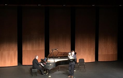 Guest artist Chasse Duplantis performs in the Mary and Al Danos Theater