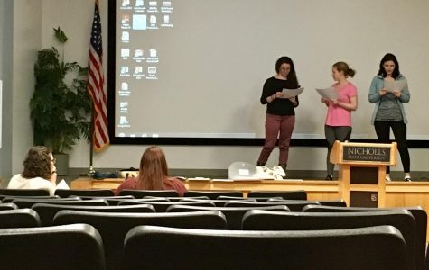 Nicholls The Vagina Monologues director holds annual interest meeting and tryouts