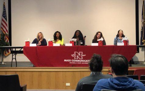 "Nicholls alumnae and other women speak for ""Women in Media"" panel"